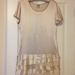 Haute hippie 100%silk frayed frill dress sz s(2)
